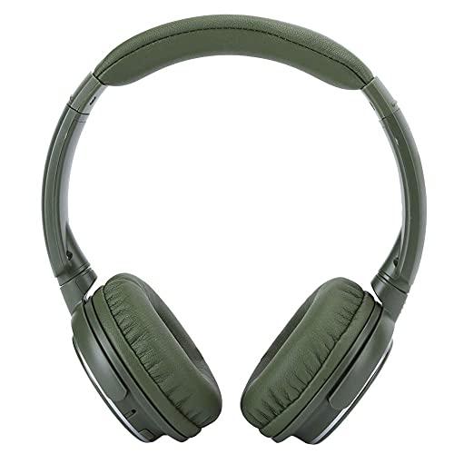 Auriculares Bluetooth de doble estéreo, auriculares inalámbricos para auriculares de juegos plegables con ruido aislante, para viajes, oficina en casa (verde) mei (Color : Green)