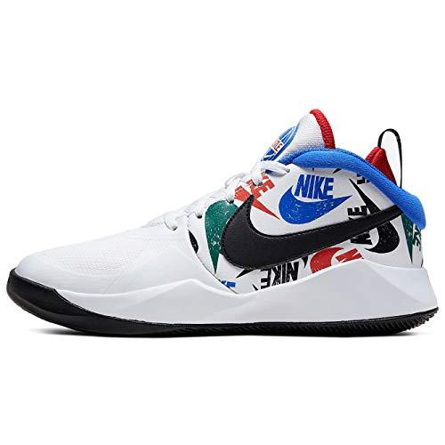 Nike Team Hustle D 9 (gs) Big Kids Cw5815-100 Size 4