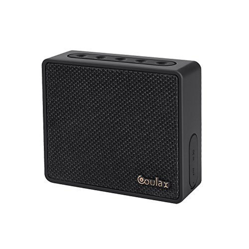 COULAX Bluetooth Speakers Mini Portable Wireless Speaker Driver Powerful with Enhanced Bass, Built-in Mic and 10 Hour Playtime (Luxurious Fabric and Classic)