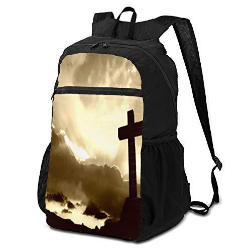 Computer Backpack Religious Christian Special Cross Sunset Laptop Shoulder Backpacks Bag Bookbag Daypack