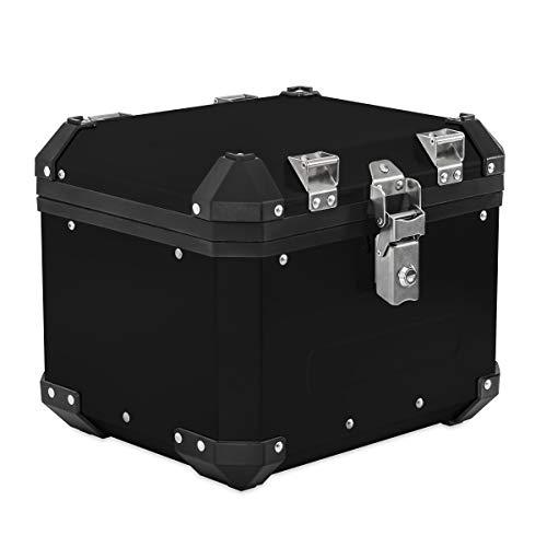 Alu Topcase für Moto Guzzi V7 III / V85 TT Aluminium Bagtecs GX33 schwarz