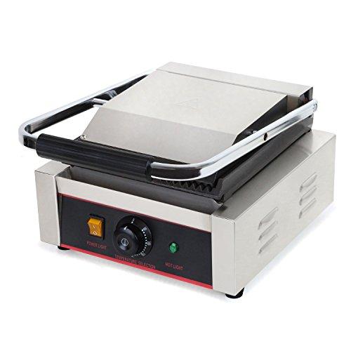 Vertes Barbecue électrique 1800 W (température maximale de 300 °C, rainurée des deux côtés, bac de récupération des graisses, pieds en caoutchouc).
