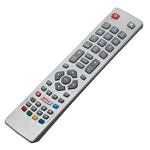 VINABTY Aquos SHW/RMC/0115 Mando a Distancia con Netflix Youtube para Sharp LC-32CFG6001E LC-24DHG6001K LC-32CFG6002E...