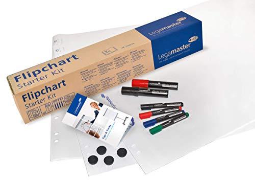 Legamaster 7-124900 flipchart startersset, accessoireset met flipchartpapier, markers en magneten