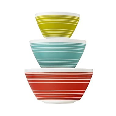 Pyrex Vintage Charm Memory Lane 3 Piece Mixing Bowl Set, inspired by Pyrex