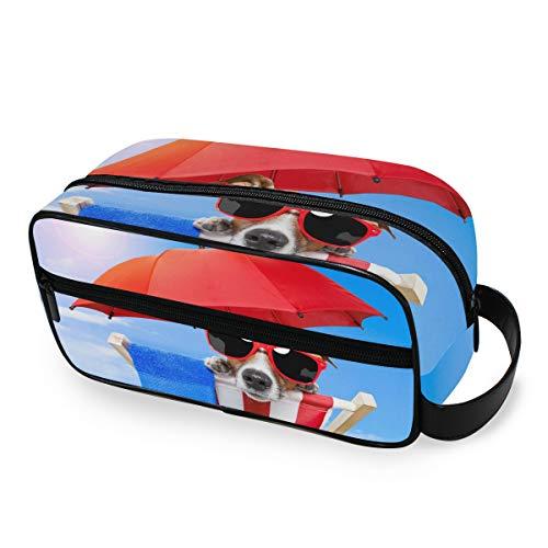 Make-uptas hond zonnebaden op deck stoel toilettas draagbare opslag portemonnee reis-tools cosmetische trein geval