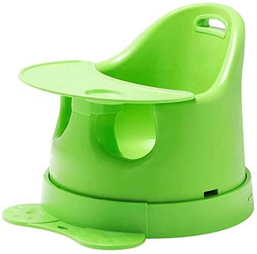 Silla alta segura Silla alta, alimentación y reflejo de la silla de viaje fácil, con cinturón de seguridad y bandeja de comedor extraíble para bebés y niños pequeños (color: rosa) Silla de comedor fác
