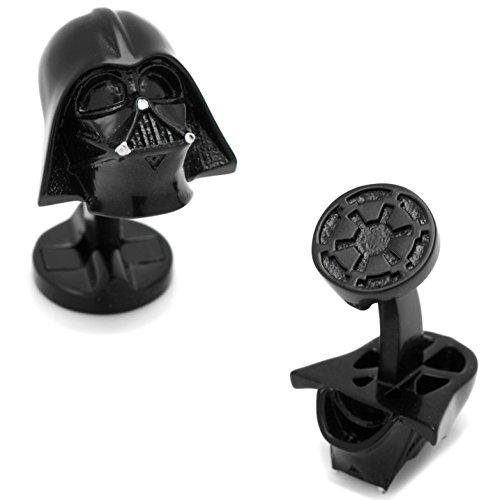 MasGemelos - Manschettenknöpfe Darth Vader 3D Black Star Wars Cufflinks