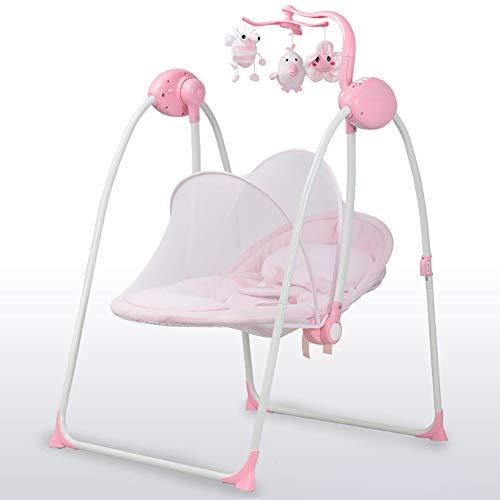 Hamaca para Bebes, Eléctrica Mecedora para Bebés,Balancín Columpio Hamaca Plegado Con mosquitera