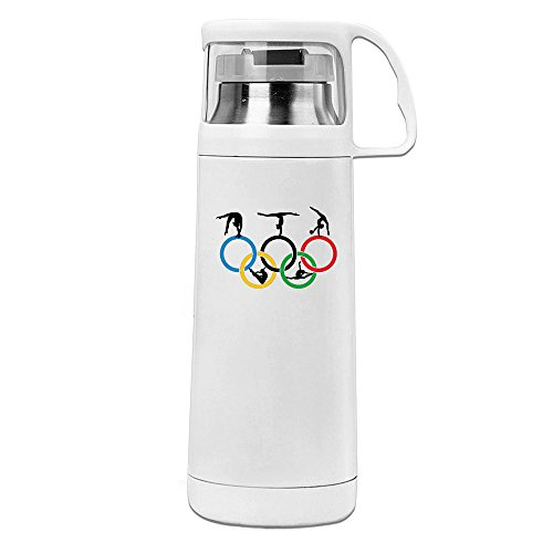 handson Mango Aislado al Vacío–Vaso de círculos y de gimnasia, acero inoxidable taza de vacío blanco oz/350ml