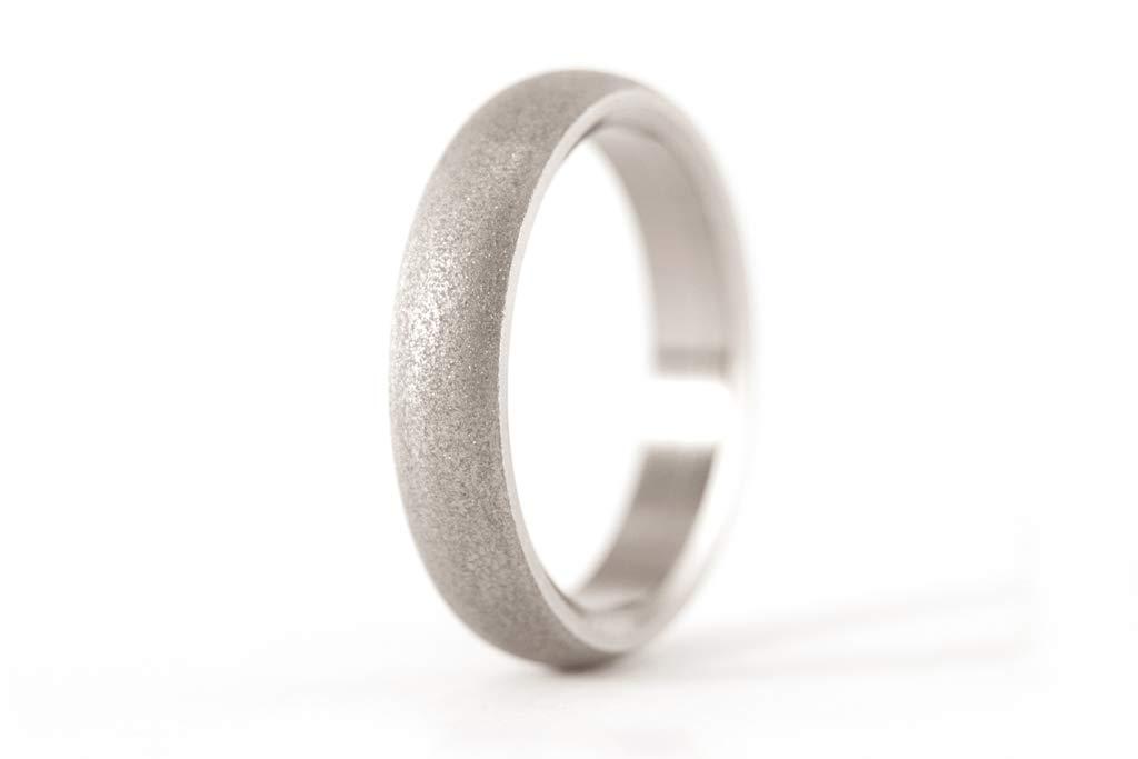 Women's sandblasted titanium ring. Over item handling ☆ New sales Unique ban wedding and modern