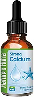 Nature's Nutra Strong Calcium + K2, 2 Fl Oz (60ml), Premium Baby and Infant Liquid Drops, Toddlers Kids Children Multivita...