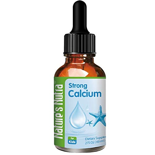 Nature's Nutra Strong Calcium + K2, 2 Fl Oz (60ml), Premium Baby and Infant Liquid Drops, Toddlers Kids Children Multivitamin Supplement, High Absorption, Healthy Bone and Teeth