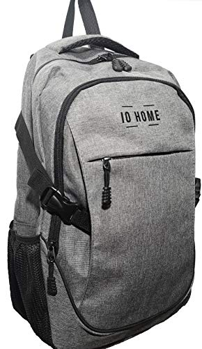 IO HOME Laptop Backpack with USB Charging Port (19 Inch) Water-Resistant, Portable Notebook/Travel/School/Work/Gaming Bag | Men, Women, Teens