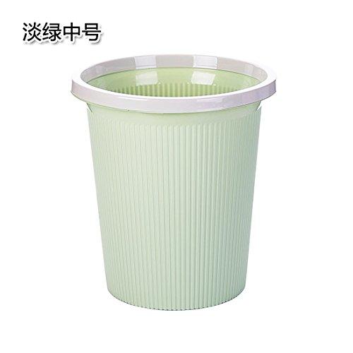 Xiuxiutian Bacs à ordures extérieurs Bague Plastique Couvrir Les poubelles de Bureau Cuisine séjour 25,3 * 17,8 27,8*cm, Vert
