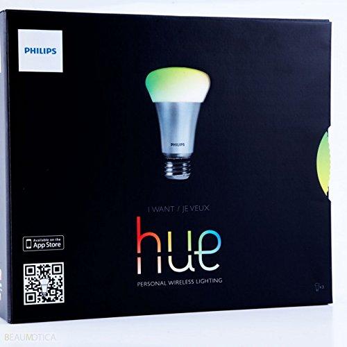 PHILIPS 1st Gen LED Lamp Hue Starter Kit personal wireless lighting , 88 x 88 x 26 mm