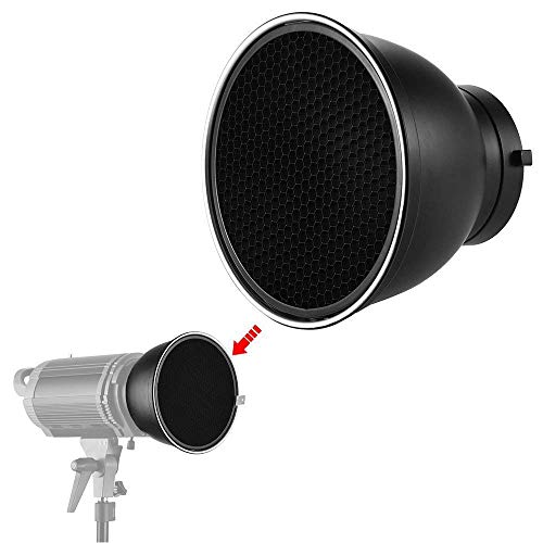Soonpho 7 Standard Reflector Diffuser Lamp Shade Dish with 10/° //30/°// 50/° Degree Honeycomb Grid White Soft Cloth for Bowens Mount Studio Strobe Flash Light Speedlite
