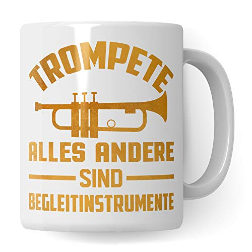 Pagma Druck Tasse Trompete, Becher Trompete Geschenke, Kaffeetasse für Trompeter Trompetenspieler, Trompete Geschenkideen Kaffeetasse Deko Musiker Dekoration Spruch