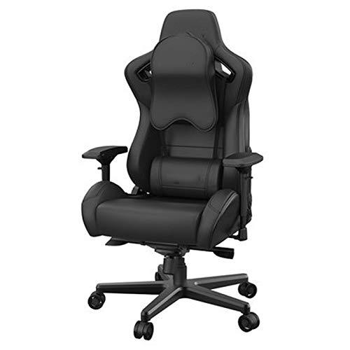 Silla de juego para juegos de silla de ordenador cómoda silla para el hogar silla sedentaria oficina jefe con respaldo alto más grande y cojín silla de oficina negro 1