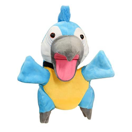 TOYANDONA Felpa Loro Marionetas de Mano Pájaros Animales de Peluche Juguetes para Imaginativos Juegos de Simulación Calcetines Contar Cuentos Jardín de Infantes Juguete para Niños