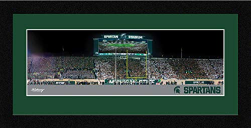 Blakeway Worldwide Panoramas, Inc. Michigan State Football - 16.625 x 8.125-inch Framed Picture