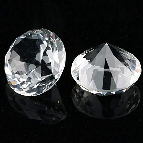 Feelairy 146 Piezas Diamantes acrílicos Deco, 20 mm Cristal Transparente Brillantes Diamantes Cristal Brillantes Gemas Transparente para Mesa Boda Primavera Decoración