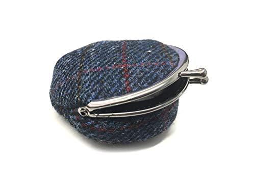 Damen Geldbörse aus echtem Harris-Tweed, schottisches Design, handgefertigt, abgerundet
