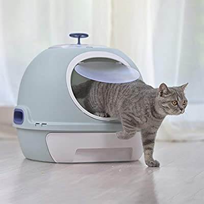ACWZX Super Self-Cleaning Litter Box, Cat Toilet, Easy To Clean, Splash-Proof And Deodorant, Suitable for Pet Cats,Gray