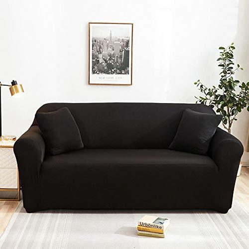 Allenger Cubierta para Sofá con Cuerda De Fijación,Fundas De Sofá Elásticas De Color Sólido para Sofá De Sala De Estar Fundas De Sofá De Licra-6_90-140Cm
