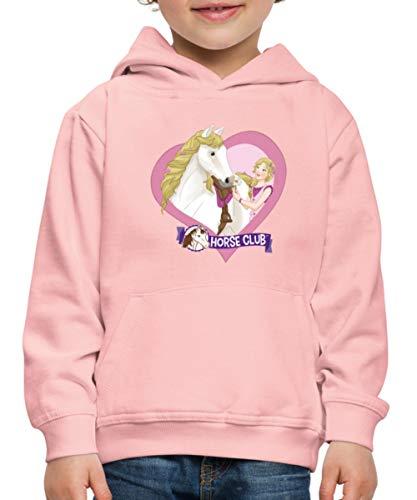 Schleich Horse Club Sofia & Blossom Herzmotiv Kinder Premium Hoodie, 152-164, Kristallrosa