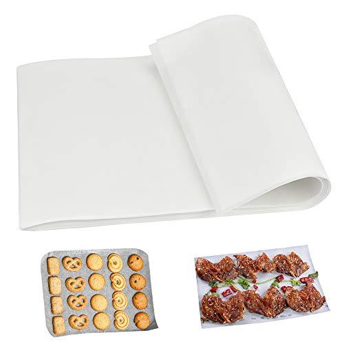 SNAGAROG 100 Pcs Papier Sulfurisé Anti-adhésif Papier Cuisson Feuille Sulfurisé Papier Cuisson Four Blanc Papier Parchemin Cuisson Bio pour Cuisine Pâtisserie Viande Cuisson Four Gâteau (20*30cm)