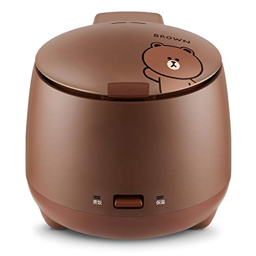 XIYUN 220V Electric Rice Cooker Non-Stick Inner 1.5L Multi Cooker Mini Household Automatic Food Cooking Pot Brown