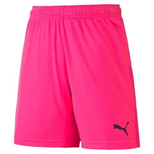 Puma Teamgoal 23 Knit Shorts Jr, Pantaloncini Unisex Bambini, Fluo Pink Black, 164