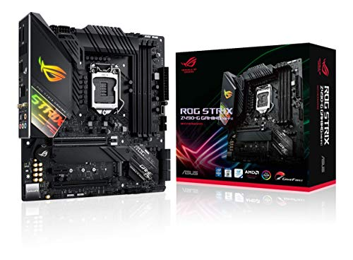 ASUS ROG Strix Z490-G Gaming (WiFi 6) Z490 LGA 1200 (Intel 10th Gen) SFF Micro ATX Gaming Motherboard (12+2 Power Stages, Intel 2.5 Gb Ethernet, Bluetooth v5.1 and Aura Sync)