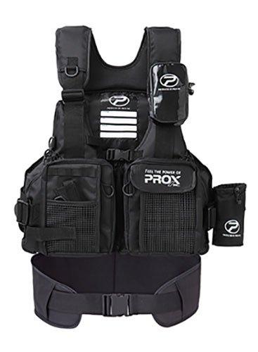 プロックス(PROX) フローティングゲームベスト(サポーター付) 大人用 ブラック×ブラック フリー PX399SPKK