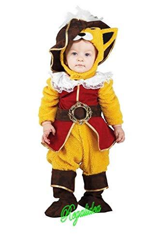 PRESTIGE & DELUXE Costume Vestito Carnevale  Gatto con Gli Stivali  Taglia 0 2 4 Anni (3-4 Anni: Altezza Bimba/o 104 cm)