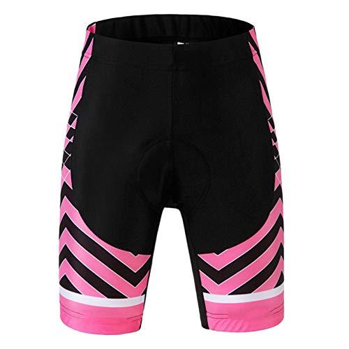 Pantalones Cortos De Ciclismo Mujer,Ropa Interior Ciclismo Acolchado para Bicicleta MTB,Secado Rápido Transpirables Sueltos Pantalon Bici,para Montaña Deporte Exteriores(Size:SG,Color:Rosa Negro)