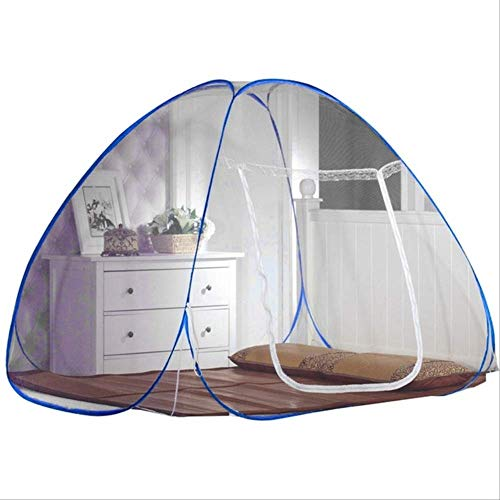 Mosquito net for Bed Foldable Mosquito Net Double Door Magic Mosquito Nets Summer Mosquito Netting Camping Travel Insect Bed Tent Home Textile M as The Picture