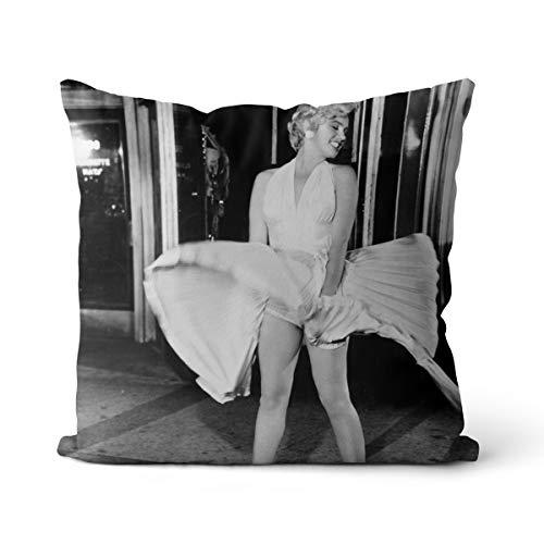 Funda de asiento de coche Marilyn Monroe Actress modelo cojín lino funda funda de cojín OR1860 cojín 45 x 45 cm