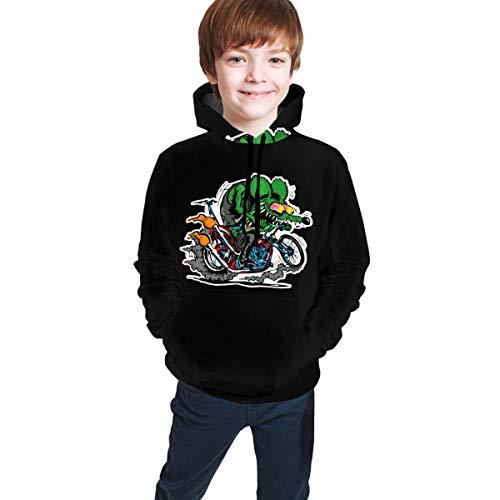 huatongxin Boys Rat Fink 3D-gedruckte Grafik Sweatshirt Langarm Komfortable Pullover Hoodie