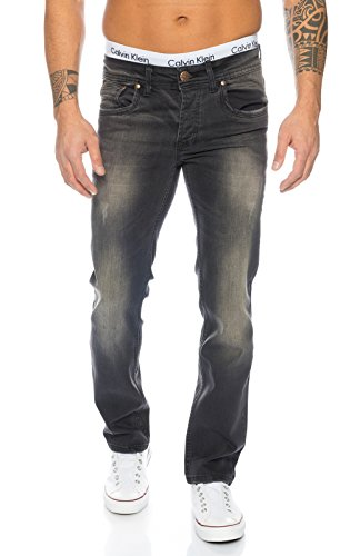 Rock Creek Herren Jeans Dunkelgrau RC-2101 [W38 L32]