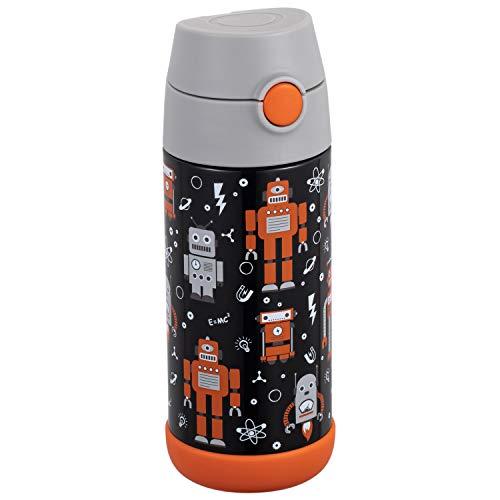 Snug - Termo para niños, botella para agua con aislamiento al vacío y pajita