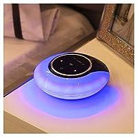 Yangmanini DRDムーンベイライトのBluetoothスピーカーフォンスマートタッチワイヤレスBluetoothスピーカー小型LEDナイトライトブルー (Color : Blue)