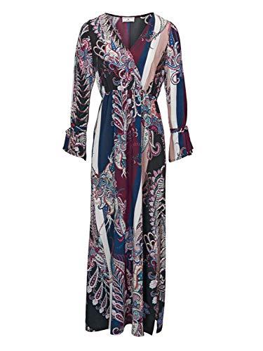 Heine Style wunderschönes bedrucktes langes Maxikleid im Paisley Muster Gr. 36