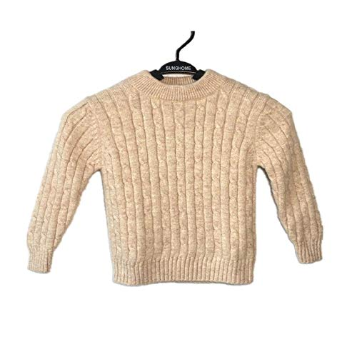 Suéter para niños, de cachemira, color sólido, suéter blanco para niña, suéter para bebé, camiseta para padres e hijos