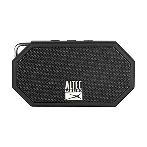Altec Lansing Mini H2O - Wireless, Bluetooth, Waterproof Speaker, Floating, IP67, Portable Speaker, Strong Bass, Rich Stereo System, Microphone, 30 ft Range, Lightweight, 6-Hour Battery, (Black)