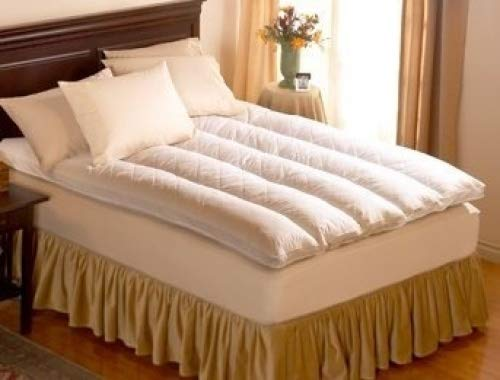 """Pacific Coast Baffle Channel Euro Rest Feather Bed-Featured in Many Ritz-Carlton Hotels (Full 54"""" x 75"""")"""