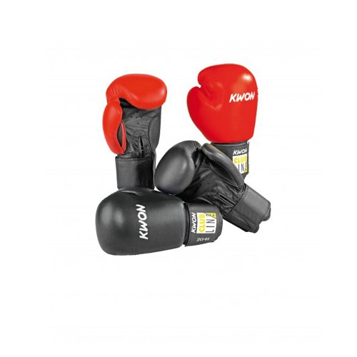 Boxhandschuhe POINTER 10 oz, Echtleder, schwarz