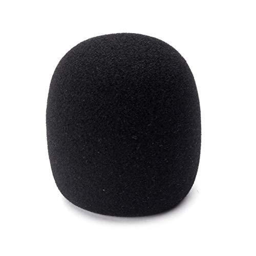EXCEART Mikrofon-Abdeckung aus Schaumstoff für Windschutzscheibe, Helm, Mikroschwamm, Abdeckung aus Schaumstoff, Schutz für Handmikrofon, 36 mm (schwarz)