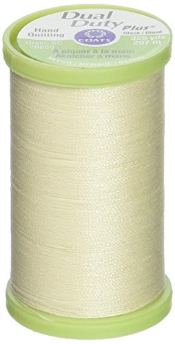 Coats Thread & Zippers Dual Duty Plus hilo para acolchar a mano, 325 yardas, color crema